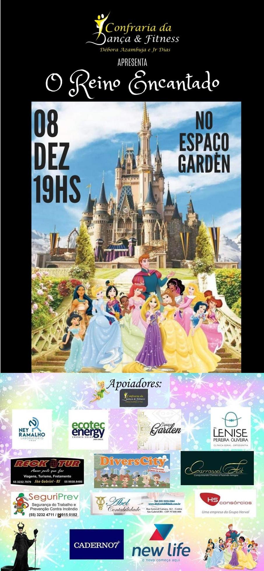 8 de dezembro - O Reino Encantado - Confraria da Dança e Fitness