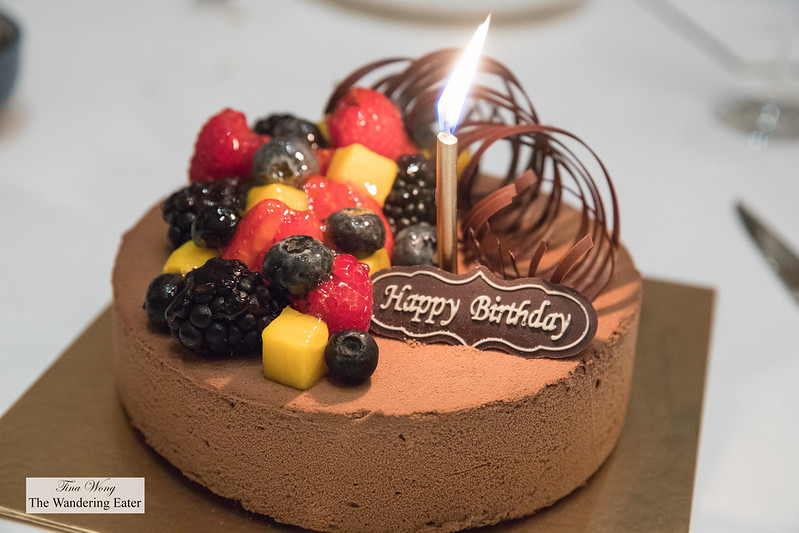 My birthday cake (chocolate mousse)
