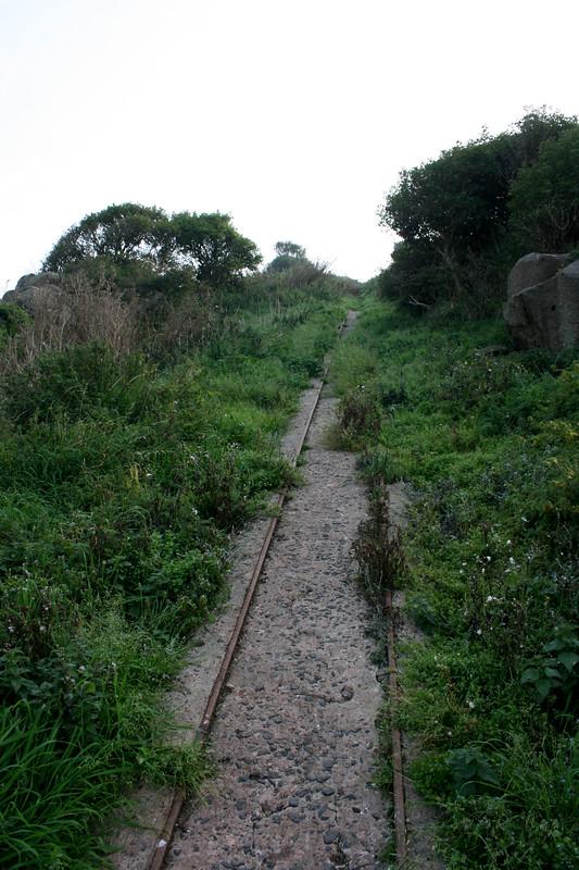 Old rail tracks, Inchcolm