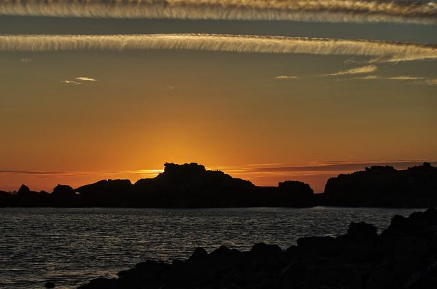 sunset at Saye Bay, Alderney
