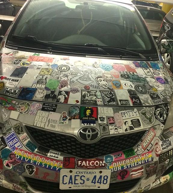 stickerbomb car Toronto