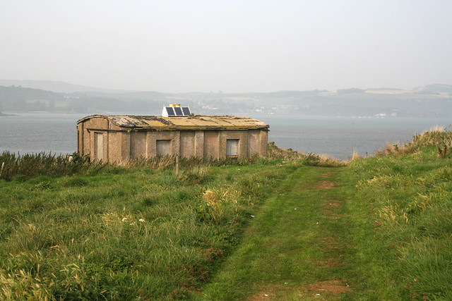 Old World War II buildings at Inchcolm
