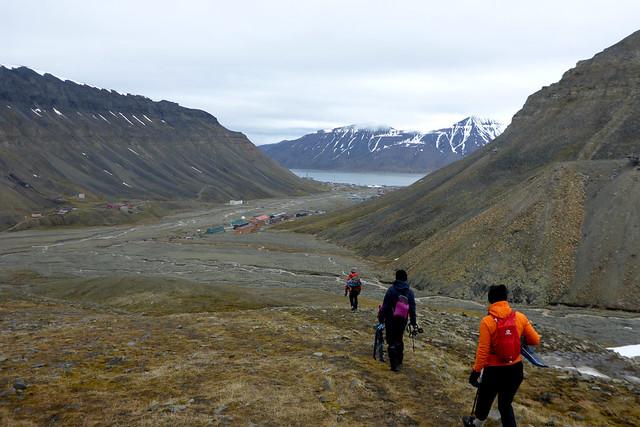 Walking out of Longyearbyen