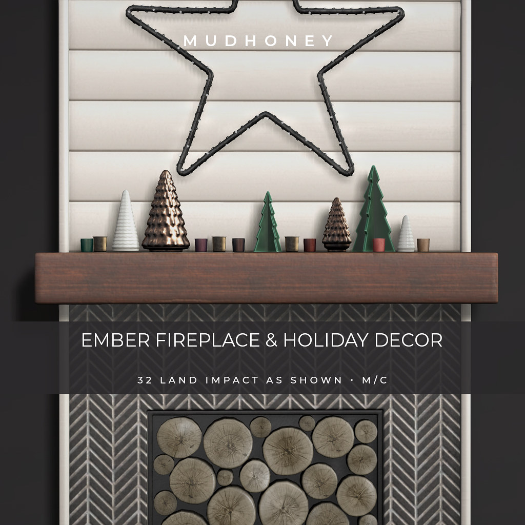 MudHoney Ember Fireplace & Decor