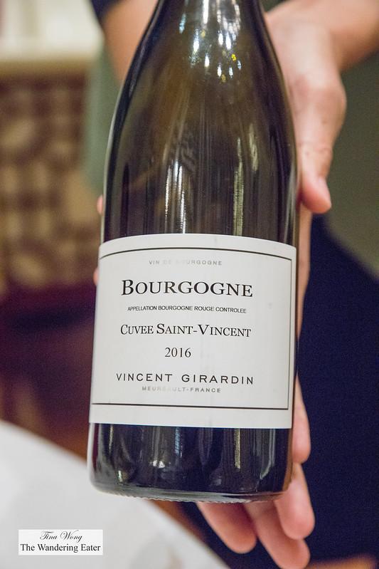 Pinot Noir, Domaine Vincent Girardin, Bourgogne, France