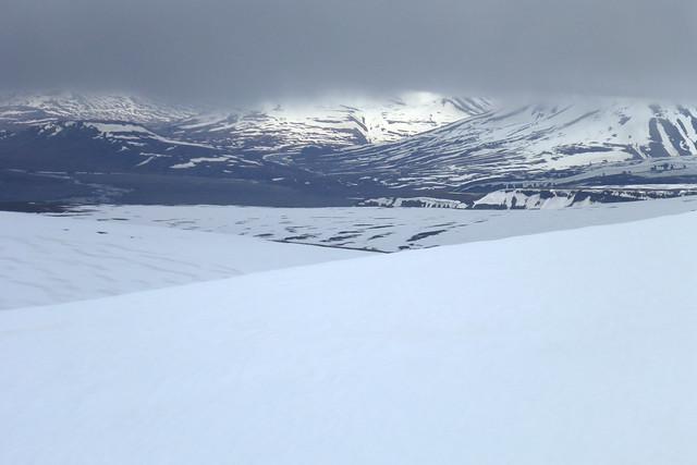 Heading over Lars Glacier near Longyearbyen