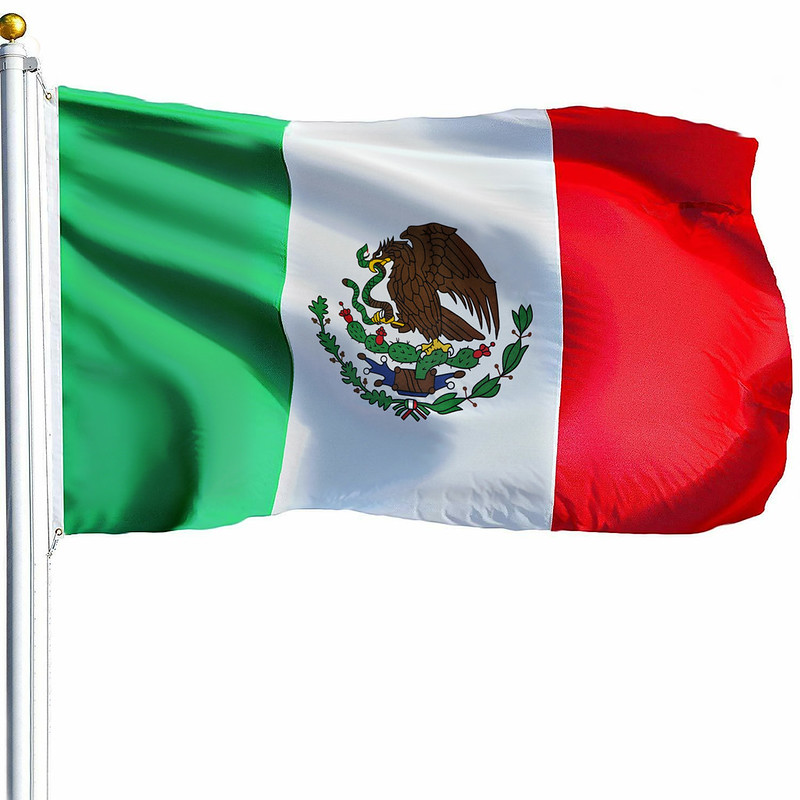 Flag Mexico Indoor Outdoor Country Mexican Yard w// Grommets Feet 3/' x 5/' ft