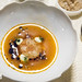 Seafood soup, sea scallop, saffron tomato broth