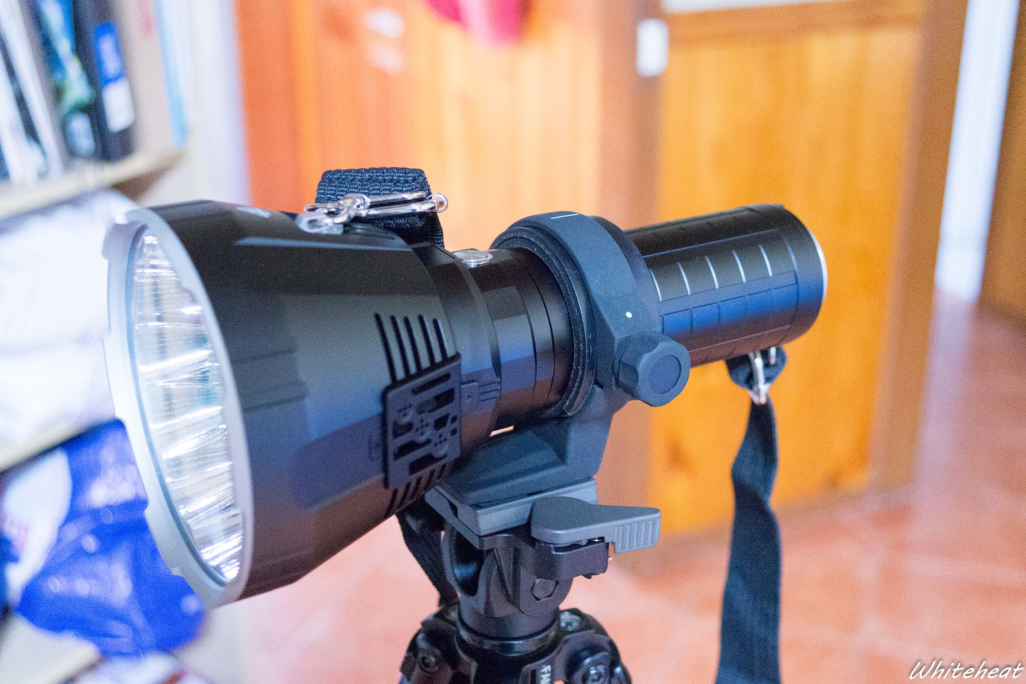 Torch mounted on tripod