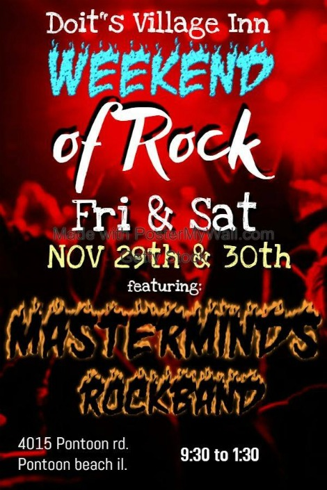 Masterminds Rock Band 11-29, 11-30-19