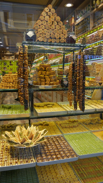 Sweets in Istanbul shopping window