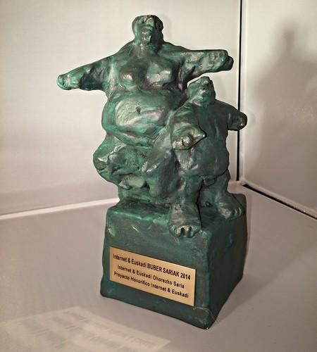 BUBER Sariak 2014. Premio Honorífico a Mikel Agirregabiria