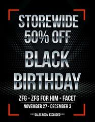 BLACK BIRTHDAY SALE