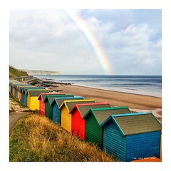 A Rainbow of Beach Huts at  Whitby