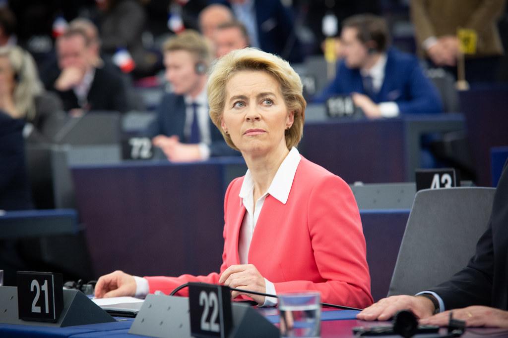 Ursula von der Leyen im Europäischen Parlament