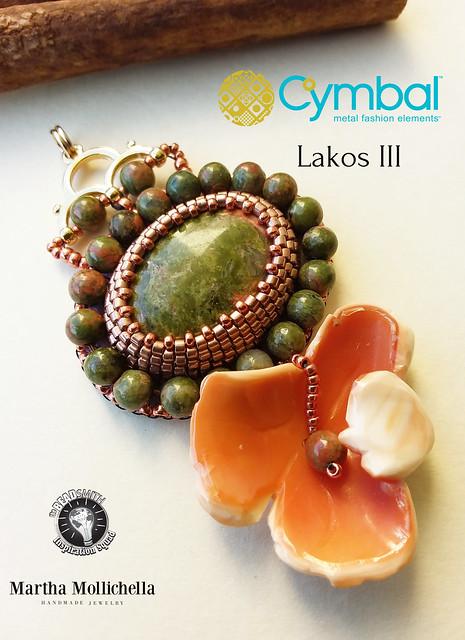Martha Mollichella The Beadsmith Cymbal elements Lakos III Bead Embroidery