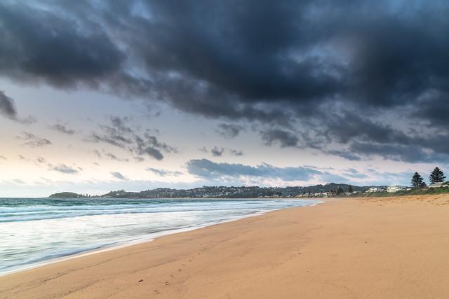 Clouds, sea and surf sunrise seasape