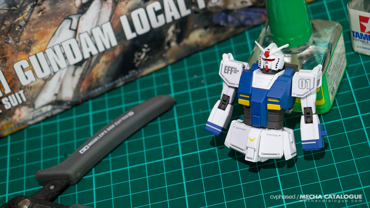 Because I'm Stuck at Home... Work-in-Progress #1: HG Gundam Local Type