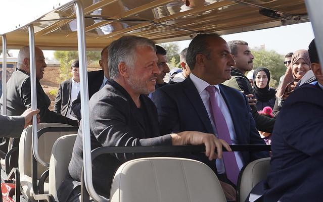 جلالة الملك عبدالله الثاني يفتتح حدائق الملك عبدالله الثاني في منطقة المقابلين