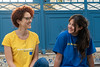This is Chiara in the yellow T-shirt, she is an EU Aid Volunteer in Tunisia with the non-governmental organisation (NGO) We World GVC, working as a gender expert in the innovation unit.  ©2019 European Union