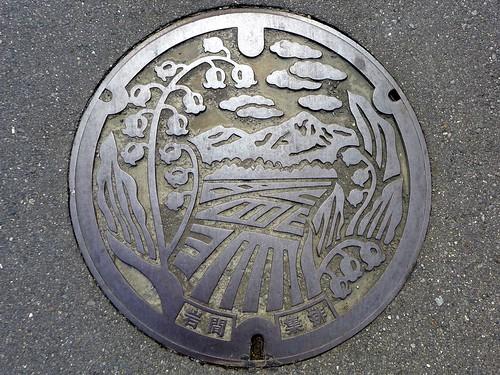 Iwama Ibaraki, manhole cover (茨城県岩間町のマンホール)