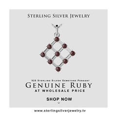 1.35ctw Genuine Ruby & Solid .925 Sterling Silver Gemstone Pendant