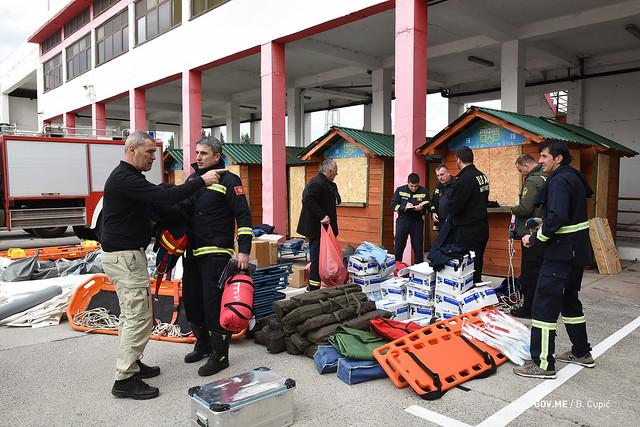 Odlazak spasilačkog tima CG u Albaniju pogođenu zemljotresom