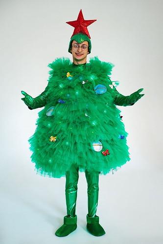 Мужской карнавальный костюм Ёлка светящаяся