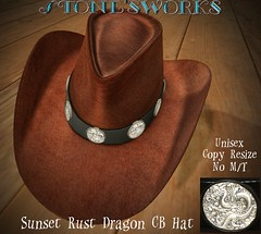Sunset Rust Dragon CB Hat  Stone's Works