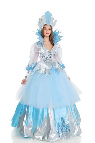 Женский карнавальный костюм Снежная королева