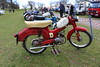 "robertknight16 posted a photo:	Motobi Pesaro (1965) Engine 50cc  Single Two StrokeRegistration Number FNV 710 C (Northamptonshire)MOTOBI SETwww.flickr.com/photos/45676495@N05/albums/72157666538761262Moto B Pesaro was founded by Giuseppe Benenli in 1949, after he quit Beneli , following a family disagreement with his five brothers, Moving to separate premises within Pesaro. The company specialised in two stroke machines. Echoing the innovative German-built Imme R100 motorcycle of 1949, Motobi shaped the engine into a smooth ""egg"" shape, giving it a characteristic styling that Aermacchi would later emulate. The machines earned a reputation for smooth running and lively performance, and the 175cc went on to win nine Italian Road Race Championships between 1959-72.After Giuseppe's death in 1957 the business was taken over by his two sons Luigi and Marco, who repaired the family split and in 1963 Motobi merged with Beneli although the two companies maintained seperate identities into the mid 1970sMany thanks for a fantabulous47,191,605  views Shot at Weston Park Classic Car Show 27.03.2016  -  Ref 111-605"
