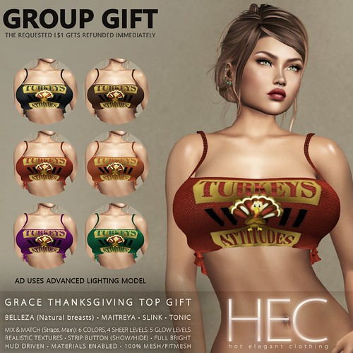 HEC (GROUP GIFT) • GRACE Thanksgiving Top GIFT