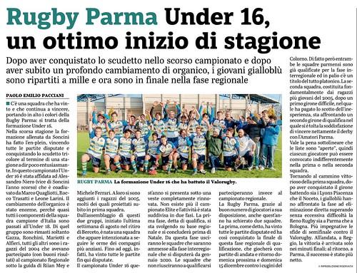 Gazzetta di Parma 27.11.19 - Under 16