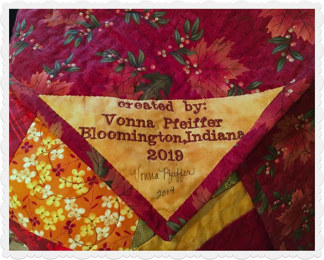 Fall Quilt 2019 Tag