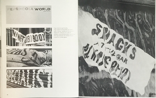 Robert Brownjohn, spread from 'Street Level', Typographica new series no. 4, December 1961