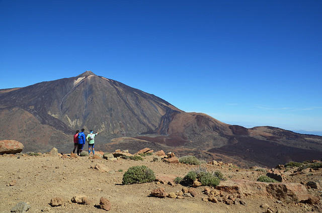 Looking down on Teide National Park, Tenerife