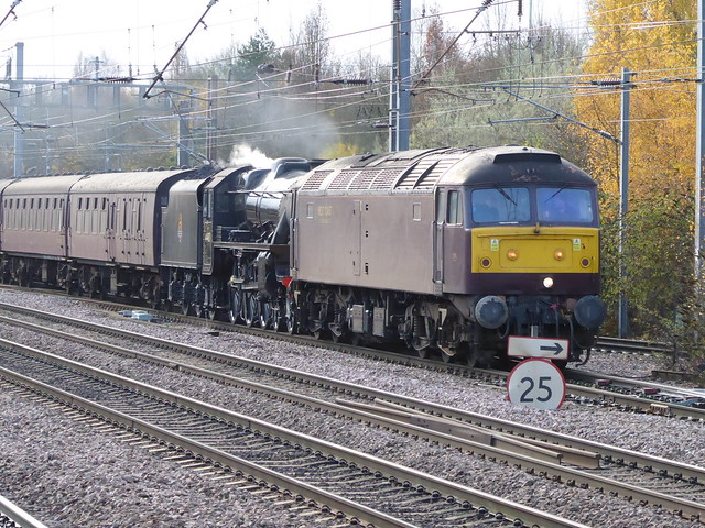 47804 and 44871 running into Welwyn Garden City