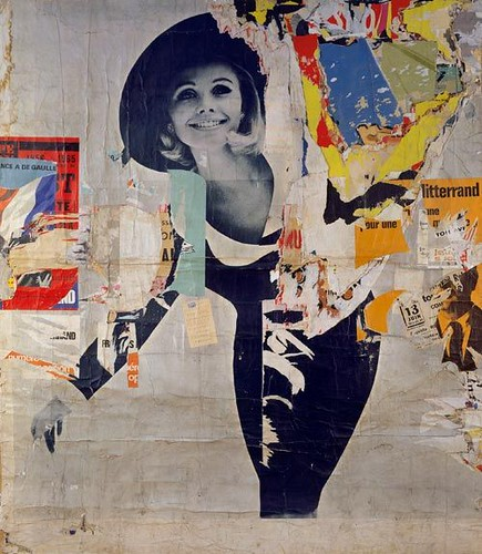 Jacques Villeglé, Rues Desprez and Vercingétorix – The Woman, décollage, 12 March 1966. Museum Ludwig