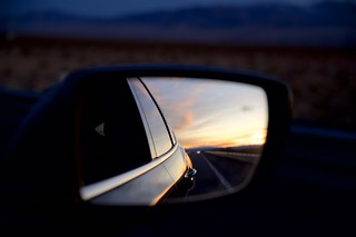 I-15 - Rearview Mirror at Sunset | by secondtree