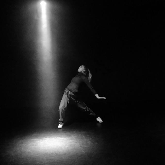 Spotlight with dancer