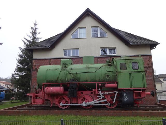 ab 1953 Altlandsberg feuerlose Dampfspeicherlokomotive von VEB Lokomotivfabrik Babelsberg Berliner Allee in 15345