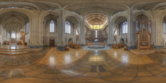 Douai Abbey - Interior 360 panorama