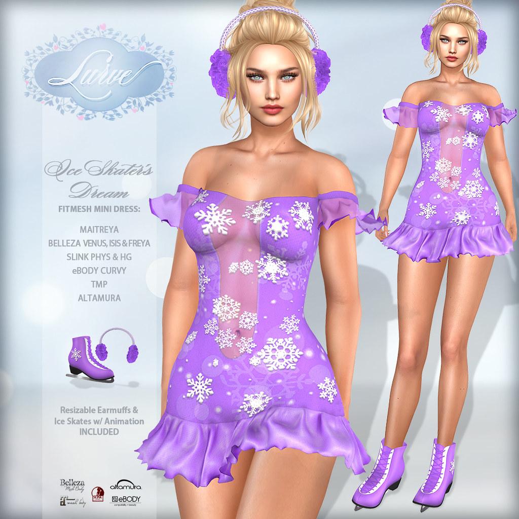 *Lurve* Ice Skater's Dream in Violet – Vendor Pic