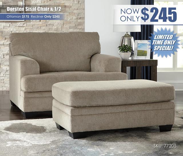 Dorsten Sisal Chair & Half_77205-23-14_Update