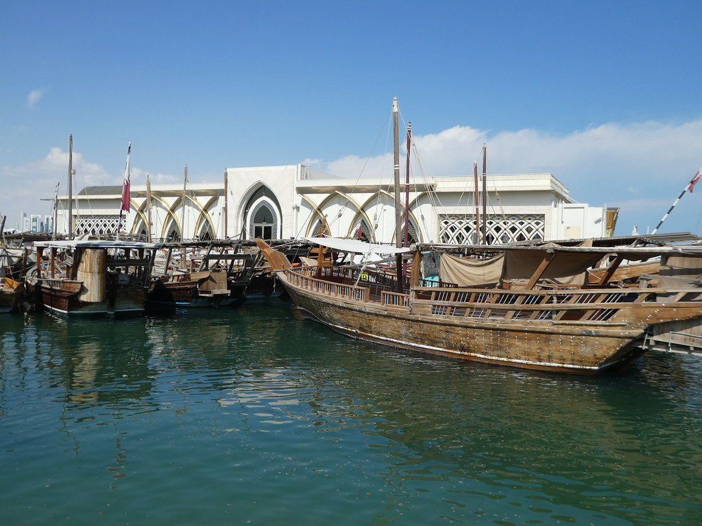 Traditional dhow boats in Doha
