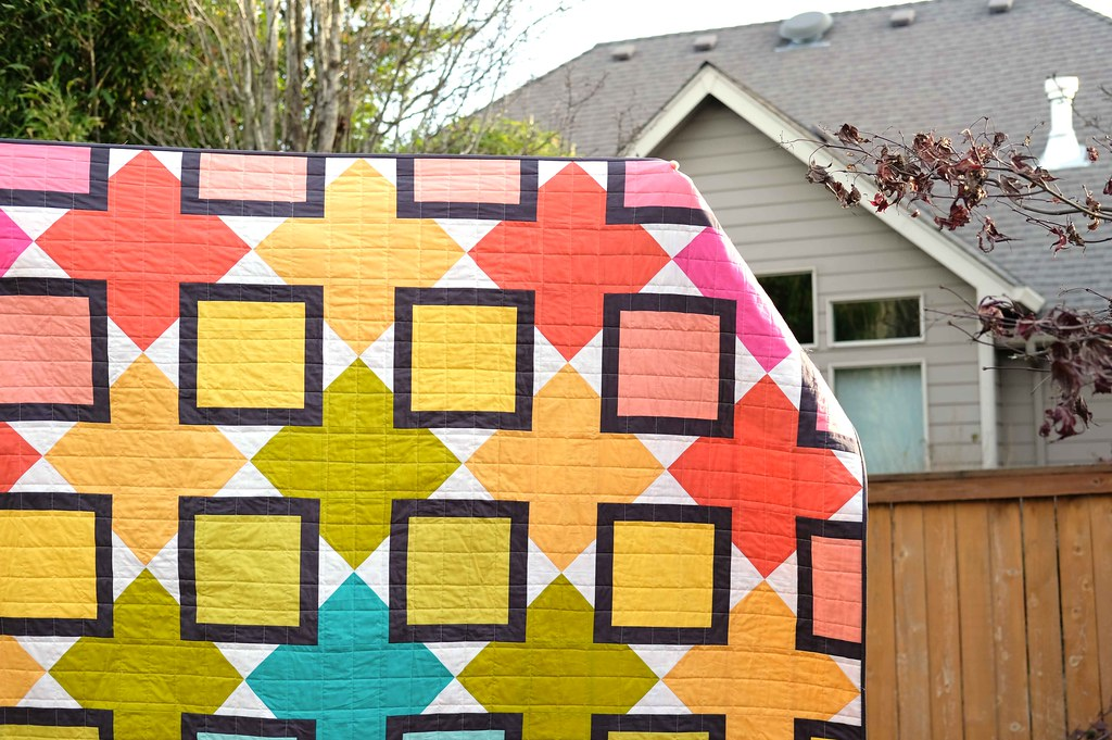 The Mary Quilt in Rainbow - Kitchen Table Quilting