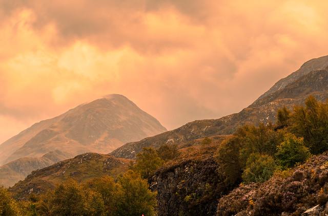Mountains near Loch Leven, Scotland.