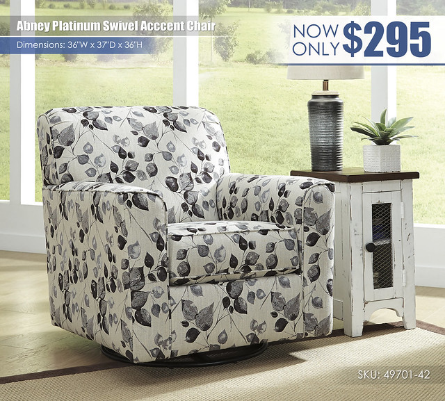 Abney Platinum Swivel Accent Chair_49701-42