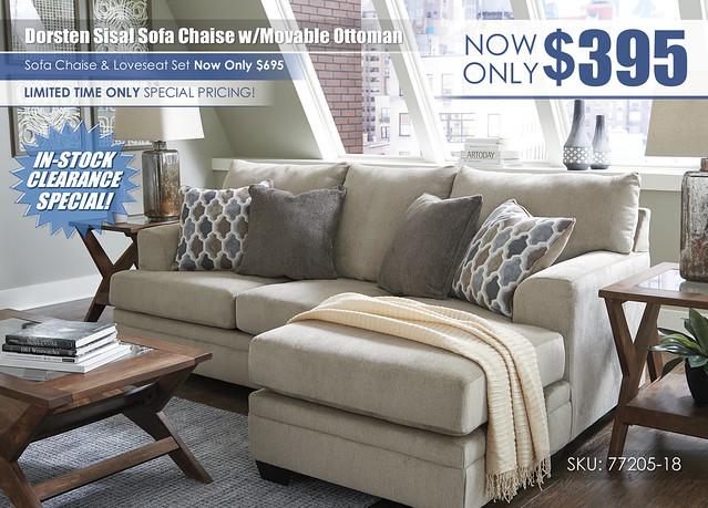 Dorsten Sisal Sofa Chaise wMovable Ottoman_InStockClearance_77205-18-MOOD-H