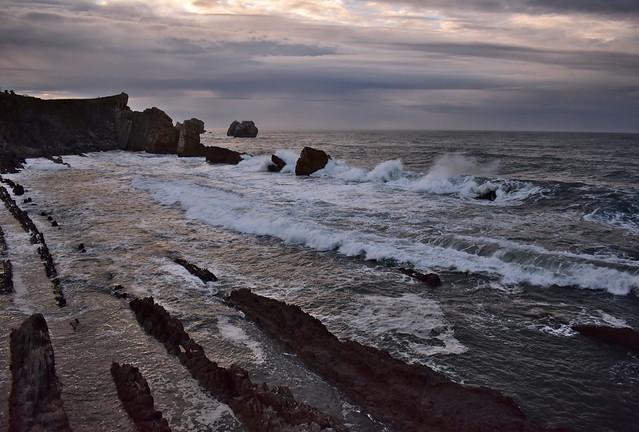 The Atlantic roars